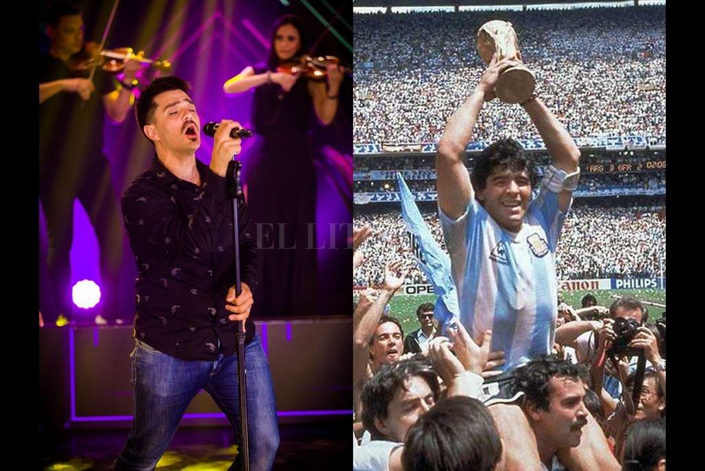 """Los sentimientos que embargaron a Efraín Colombo cuando se enteró de la muerte del legendario futbolista argentino Diego Armando Maradona, fueron volcados en una canción que remite al """"barrilete cósmico"""" del Mundial de México 1986. Crédito: Archivo El Litoral / Gentileza producción"""