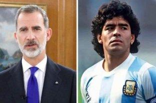 El rey Felipe de España envió condolencias oficiales por la muerte de Diego Armando Maradona