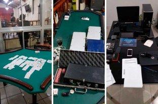 Megaoperativo en Santa Fe por juego clandestino - Durante los procedimientos, 18 personas fueron detenidas. Dos de ellas son policías.