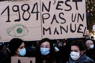 Multitudinarias manifestaciones en Francia contra la ley de seguridad de Macron