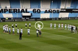 Video: el homenaje a Maradona en la previa de Racing-Unión -  -