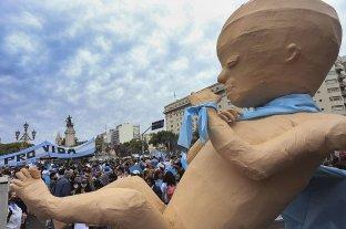Sectores contrarios a la legalización del aborto se movilizaron en distintos puntos del país