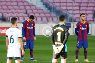Video: Barcelona y Messi homenajearon a Maradona en el Camp Nou