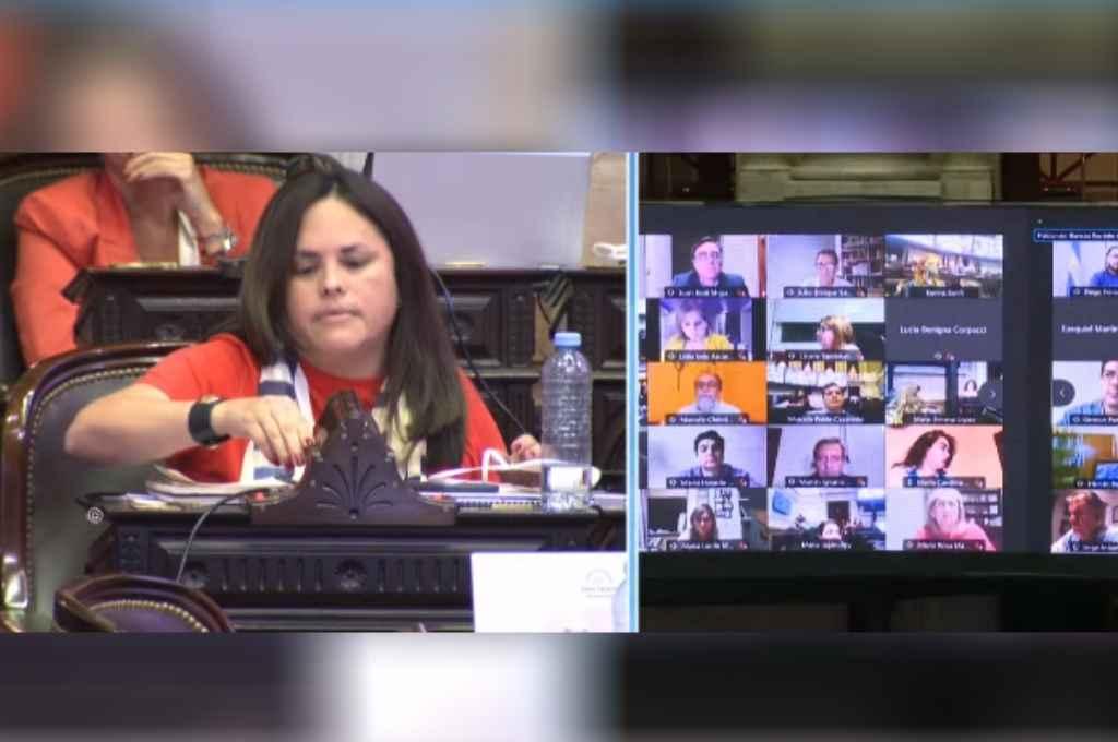Dolores Martínez (UCR- CABA), cuestionando al oficialismo por la