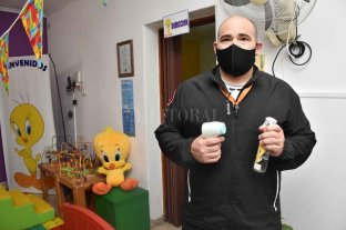 Reabren los jardines maternales en la ciudad   - Fernando Collados, con todo listos para la vuelta a clases.    -