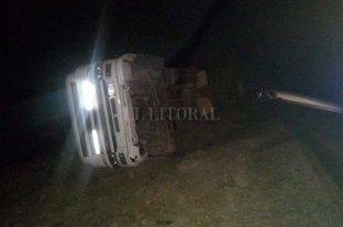 Volcó un camión en el norte de la provincia de Santa Fe
