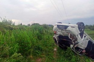Vuelco en la Ruta 1 dejó a dos mujeres lesionadas, una de gravedad -