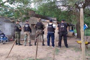 Allanamiento en una isla por el crimen en Los Zapallos