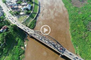 Desde el drone de El Litoral: la mortandad de peces en el río Salado