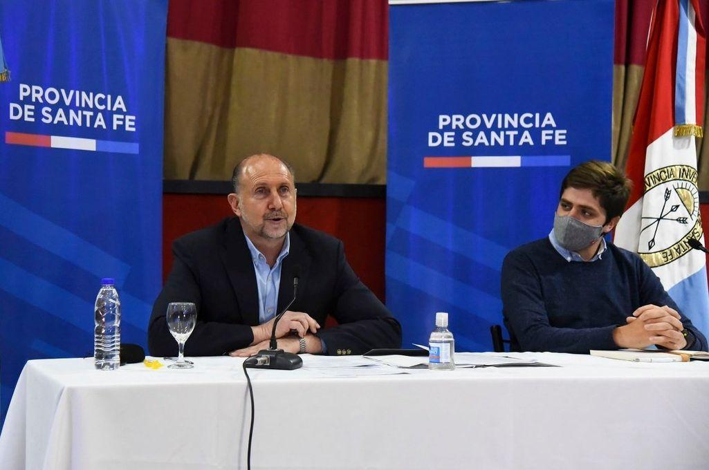 Francisco Buchara junto al gobernador Perotti Crédito: Gentileza