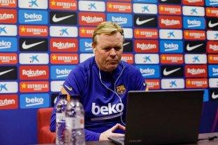 El DT Koeman dice que el Barcelona no puede perder más puntos en la Liga española