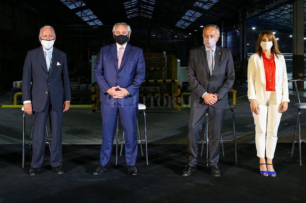 El presidente Alberto Fernández participó del cierre de la Conferencia Industrial Crédito: Telam
