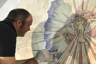 Restauran una histórica pintura en una capilla santafesina de 1830