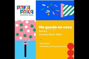 """""""Me quedo en casa"""", de Pakapaka, ganadora en los Premios Obrar"""