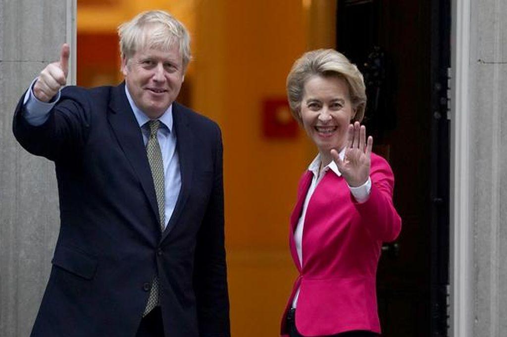 Ursula von der Leyen y  Boris Johnson Crédito: Getty