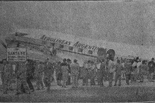 La historia del primer vuelo de Aerolíneas Argentinas que llegó al aeropuerto de Sauce Viejo