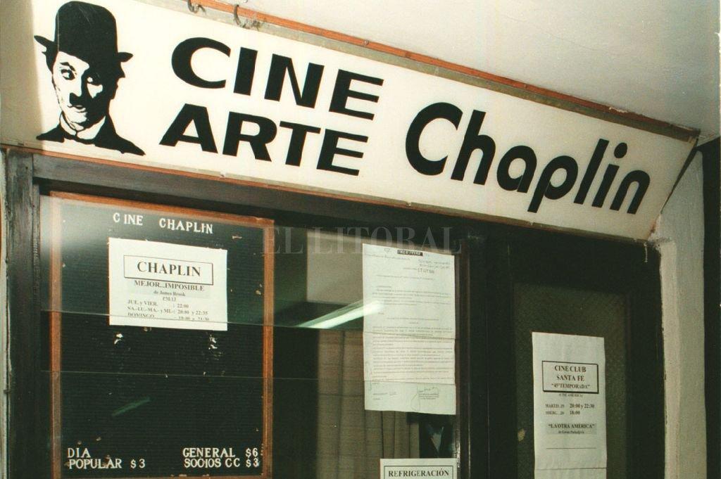 Cine Club Chaplin: funcionaba en el primer piso de la Galería Ross.  Crédito: Archivo El Litoral