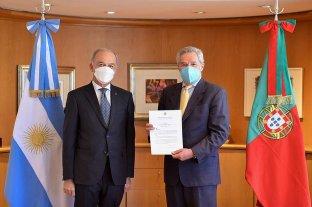 El embajador de Portugal  le presentó sus credenciales a Felipe Solá