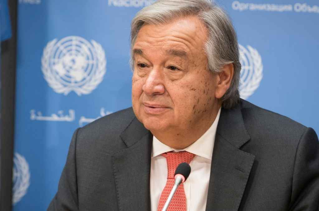 António Guterres, portugués, secretario general de la ONU.    Crédito: Gentileza