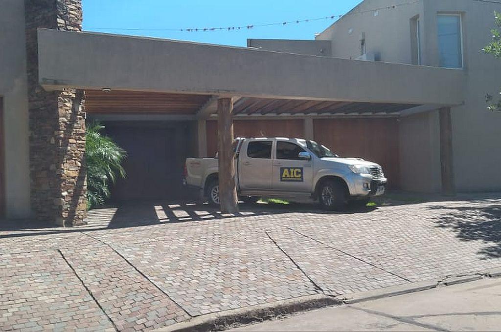 Una de las viviendas de accionistas de Vicentin allanadas el lunes en Avellaneda Crédito: Agencia
