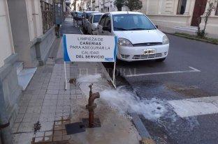 Se inició una limpieza preventiva de la red de distribución de agua potable