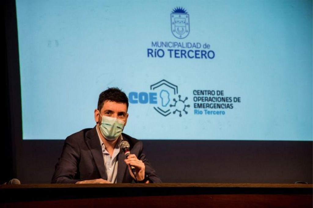 Marcos Ferrer, intendente de Río Tercero Crédito: Gentileza