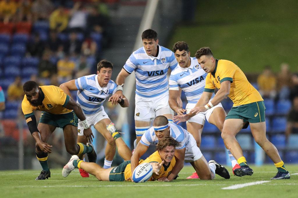 Argentina ante Australia: un duelo que se repetiría el año venidero, en el marco de un Rugby Championship que retomará su estructura natural. Crédito: Gentileza UAR