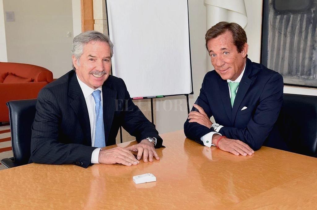 El canciller Felipe Solá junto a Luis María Kreckler. Crédito: Prensa Cancillería