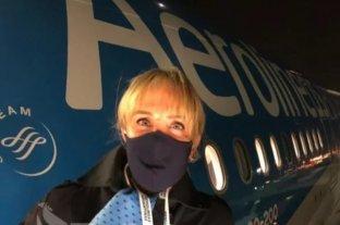 """La azafata """"viral"""" que integró el vuelo sanitario a Moscú relató su experiencia"""