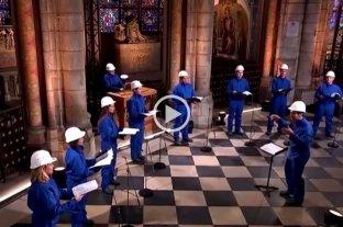 En plena reconstrucción, los villancicos navideños volvieron a sonar en Notre Dame