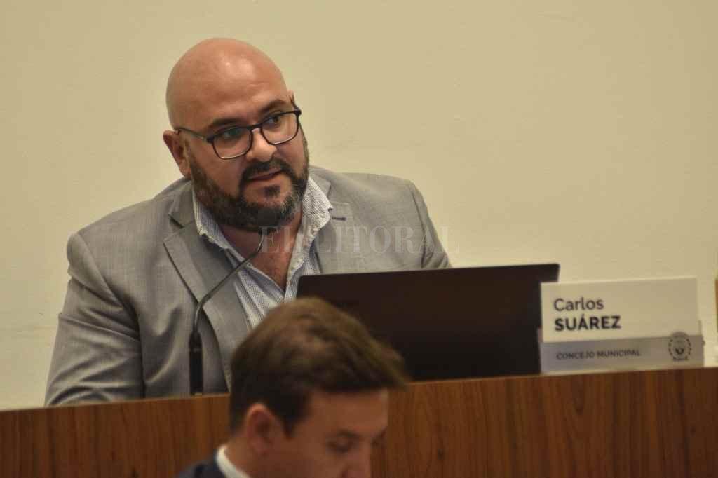 Carlos Suárez, concejal de UCR-Juntos por el Cambio.