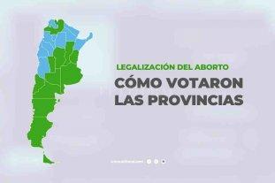 Radiografía del voto del Senado según la representación provincial