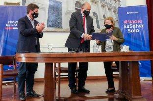 Perotti y Fernández presentarán obras de saneamiento para la ciudad de Esperanza -  -