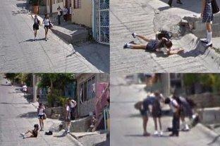 """Viral: la caída de una estudiante que quedó """"inmortalizada"""" en Google Maps"""