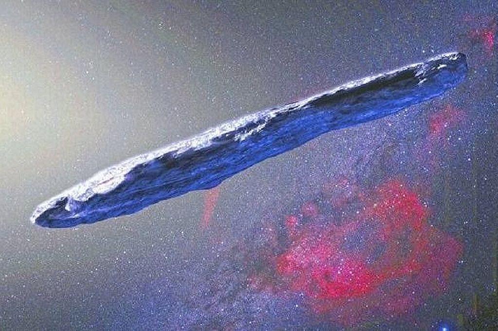 Asteoride Oumuamua Crédito: Captura de pantalla