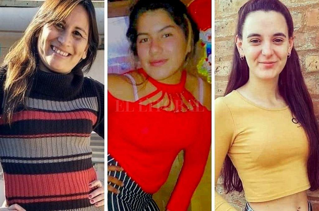 Daniela Cejas, Rocío Vera y Julieta del Pino fueron asesinadas este 2020 en Santa Fe, Reconquista y Berabevú. Crédito: Archivo El Litoral