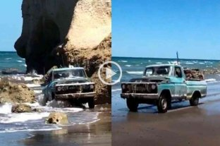 Video: se hizo viral cuando salía de medio del mar con su vieja F-100 y Ford decidió premiarlo