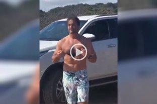 Video: Lacalle Pou visitó una playa uruguaya, saludó a sus seguidores y se hizo viral