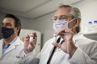El Presidente visitó los laboratorios donde se desarrolló el suero hiperinmune contra el Covid