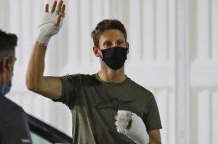 F1: el ex piloto Romain Grosjeanmostrócómo quedaron sus manos tras el accidente en Bahrein