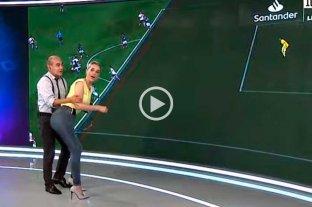 Polémico momento en la TV: Elio Rossi recreó una jugada de River - Palmeiras con una compañera
