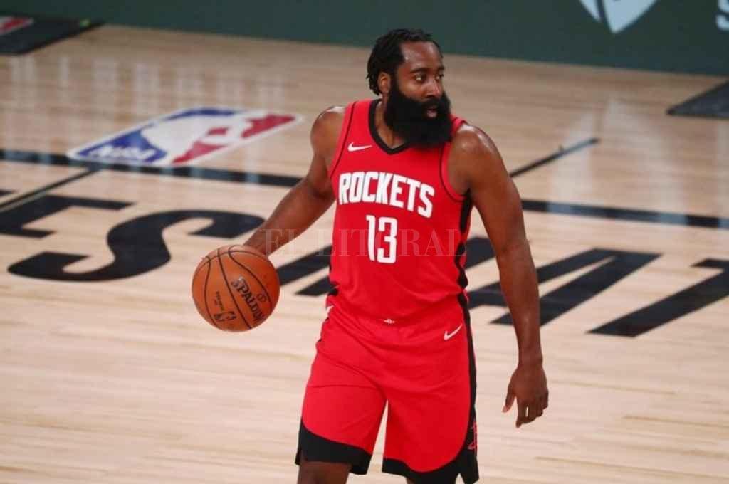 James Harden jugando para Houston Rockets. Crédito: Gentileza