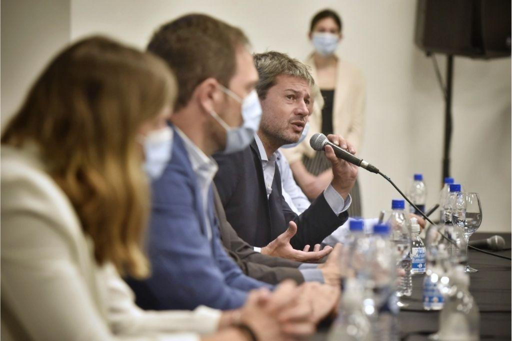 Matías Lammens en conferencia de prensa Crédito: Gentileza