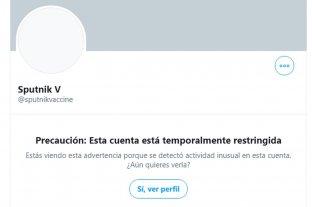 Twitter restringió la cuenta de la vacuna rusa Sputnik V por un posible hackeo desde Estados Unidos