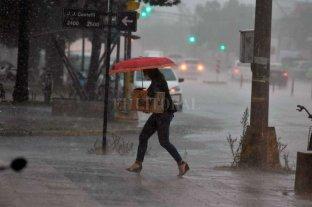 Imágenes de la fuerte lluvia en Santa Fe -