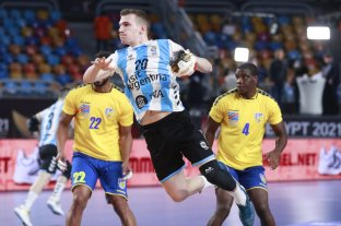 Los Gladiadores reaccionaron a tiempo y derrotaron a Congo en su debut en el Mundial de Egipto