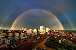 La foto del arcoíris en Monte Hermoso que se convirtió en viral