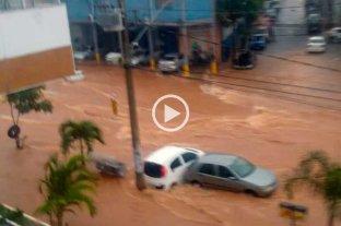 Video: impactantes imágenes de una feroz tormenta en Brasil