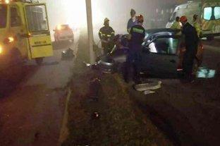 Un muerto y cinco heridos tras un choque en la salida de Mar del Plata