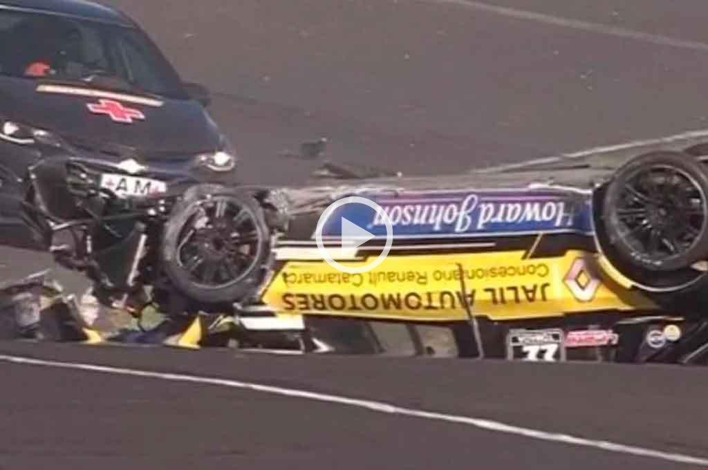 """Top Race Junior: el """"Dipy"""" protagonizó un tremendo choque en el autódromo de Paraná -  -"""
